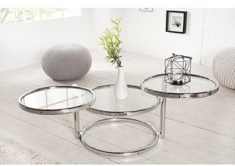 Table basse design chrome