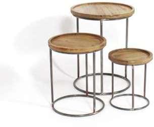 Lot de trois tables basses