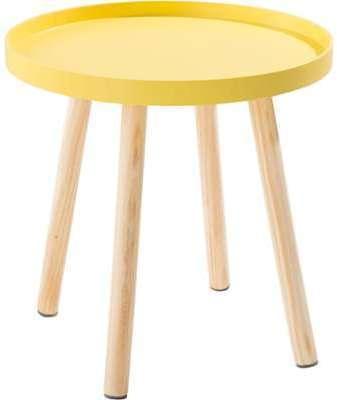 Bout de canapé jaune avec