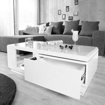 Table basse Linea blanche