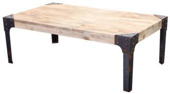 Table basse industrielle métal