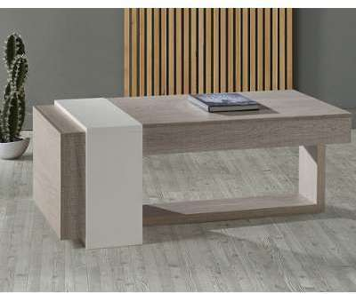 Table basse relevable 2 tiroirs