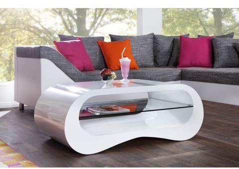 Table basse design blanche