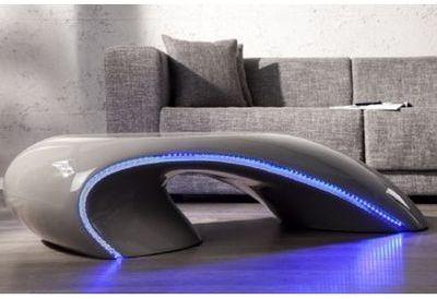 Table basse design à Led laqué