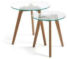 Set de 2 tables basses gigognes