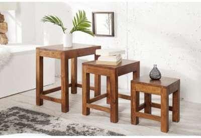 Set de 3 tables basses gigognes