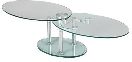 Table basse 2 plateaux ovales