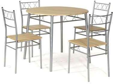 Ensemble table ronde et 4