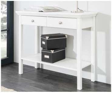 Console design blanche 2 tiroirs