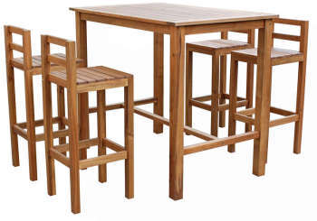 Ensemble table haute 2 chaises