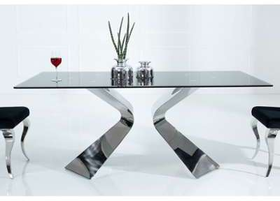 Table à manger design en acier
