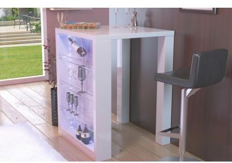 Table de bar design blanc