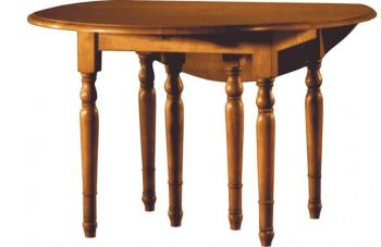 Table ronde merisier à volets