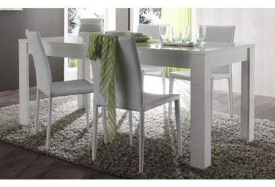 Table laquée rectangulaire