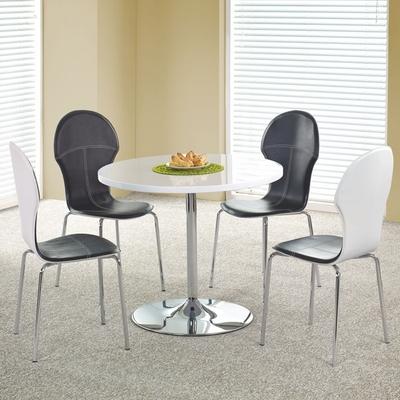 Table de cuisine ronde blanche