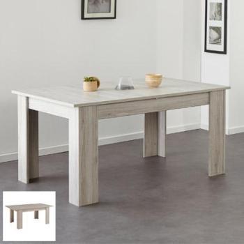 Table avec allonge centrale