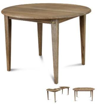 Table ronde 1 allonge centrale