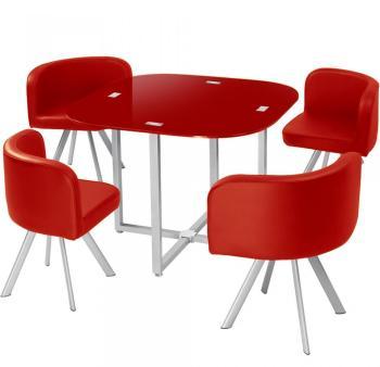 destock table mosaic 90 fleurs rouge et noir. Black Bedroom Furniture Sets. Home Design Ideas