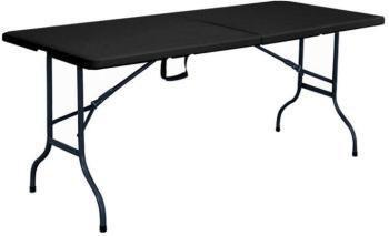 Table pliante noire 180cm