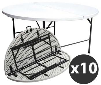 Tables rondes pliantes 180cm