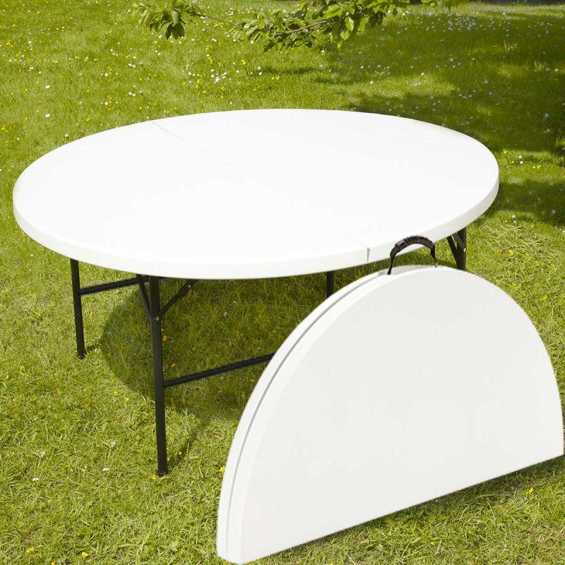 Table pliante ronde 150cm