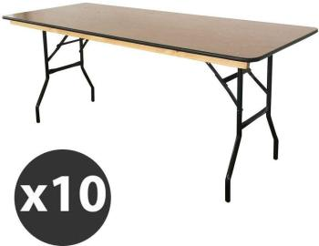 Table pliante en bois 180