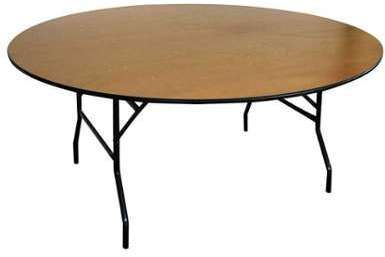Table pliante ronde en bois