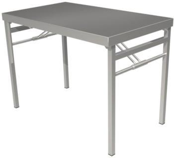 Table pliante tout inox
