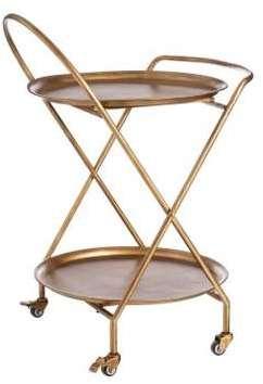 Table Roulante Ronde Décorative