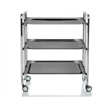 Table Roulante Pliante 3 Plateaux