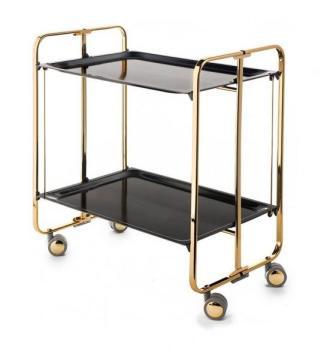 Table Roulante Pliante 2 Plateaux