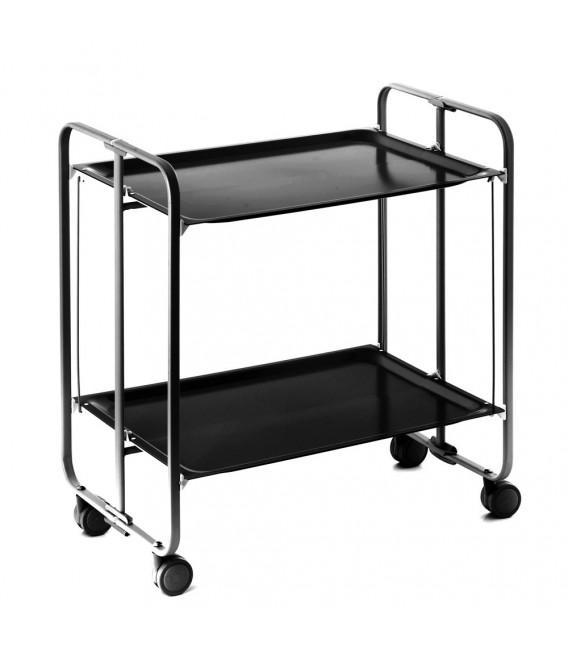 Table Roulante Pliante Noire
