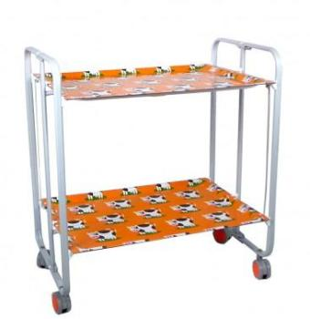 Table Roulante Pliante Orange