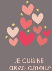 Tablier Je cuisine avec amour