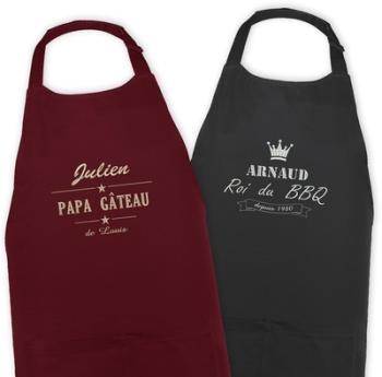Tablier de cuisine brodé label