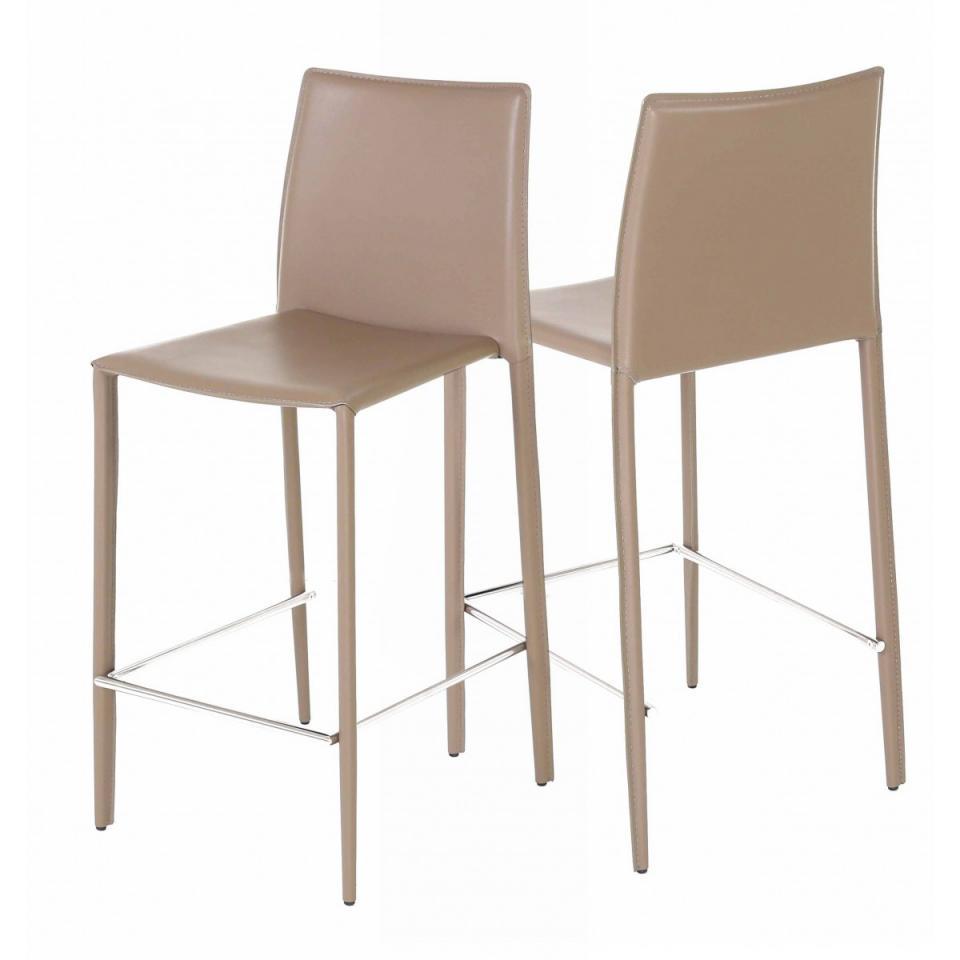 2x chaise plan de travail taupe pi tement ch ne popsy. Black Bedroom Furniture Sets. Home Design Ideas