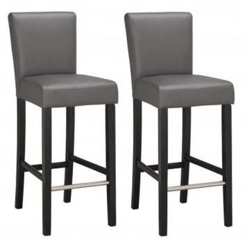 Lot de 2 chaises de bar grises