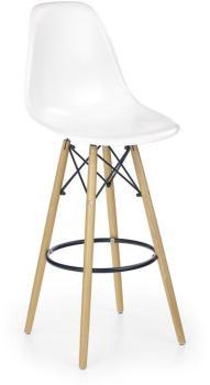 Chaise haute métal et bois