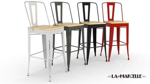 Lot de 4 tabourets tôle design