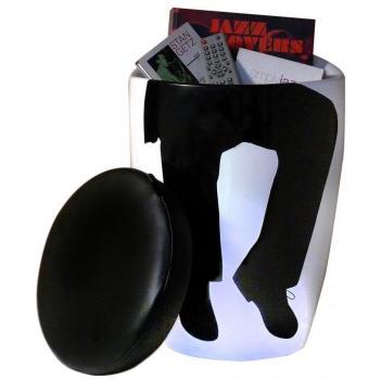 Tabouret bas design noir et