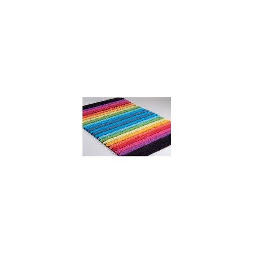 Sorema c drop tapis de bain gris - Tapis rayures multicolores ...