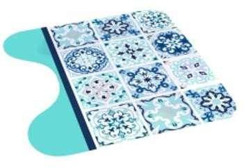 Tapis contour WC Tilès Bleu