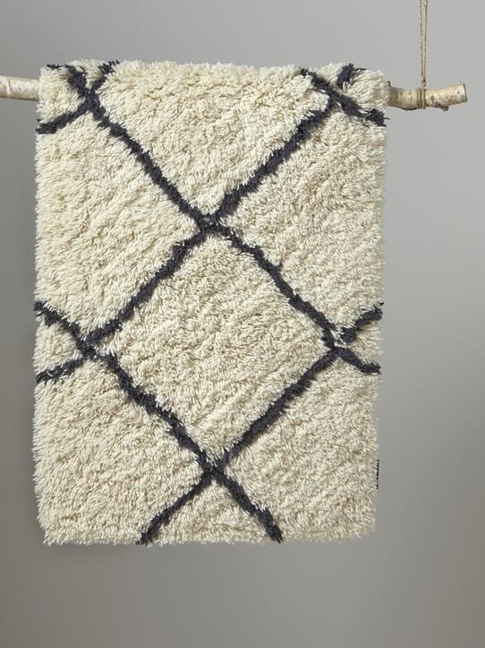 Tapis berbère laine blanc