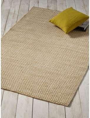 Tapis tissé graphique en laine