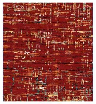 Tapis de salon rouge design