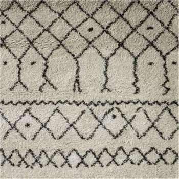 Tapis berbère écru motifs
