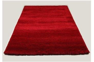 Tapis de salon shaggy rouge