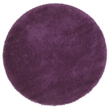 Tapis Shaggy rond D160cm violet