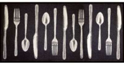 Tapis cuisine (115 cm) Couverts