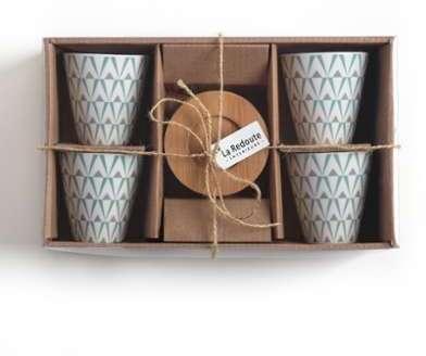 Tasses à café en porcelaine